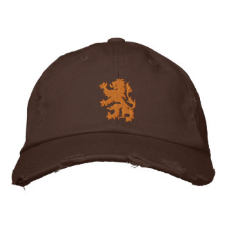 Netherlands Rampant Lion Distressed cap