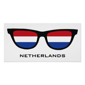 Netherlands Shades custom text & color poster