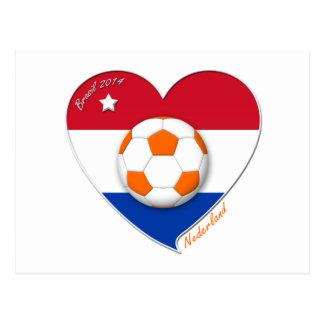 Netherlands soccer. NEDERLAND national soccer team Postcard