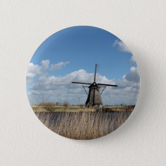 Netherlands views. 6 cm round badge