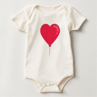 Network ballon heart baby bodysuit
