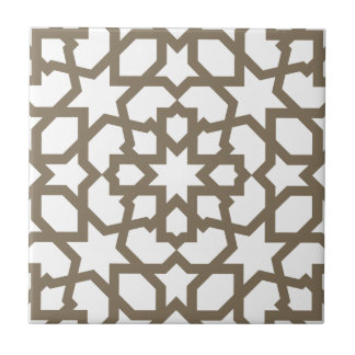 Network color gold of mosaic of Moroccan geometry  Small Square Tile