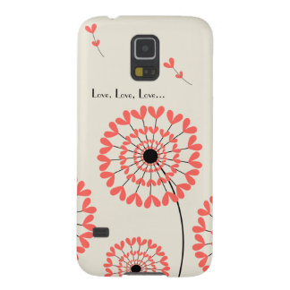 Network dandelions with heart-shaped petals galaxy s5 cover