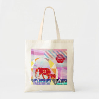network elephant cotton bag