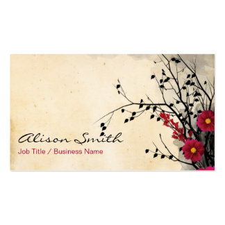 Network flowers pack of standard business cards