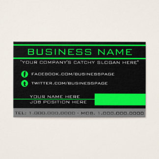 Network Green Business Card