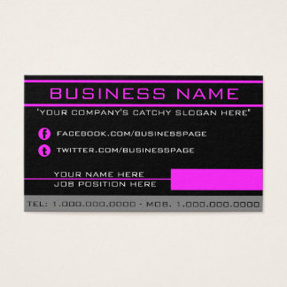 Network Pink Business Card