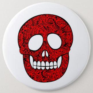 Network skull 6 cm round badge