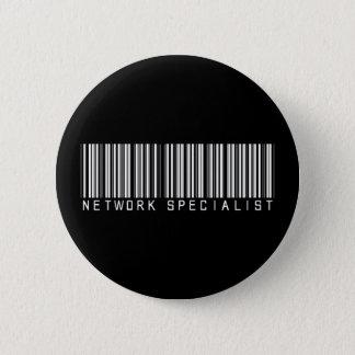 Network Specialist Bar Code 6 Cm Round Badge