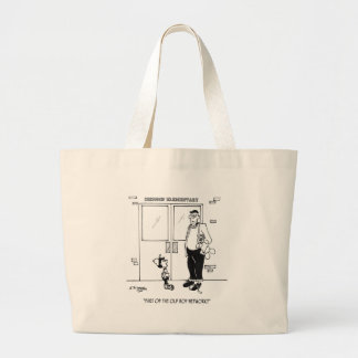 Networking Cartoon 3011 Large Tote Bag