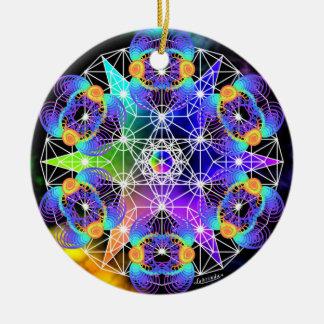 Networking/Organic Process Ceramic Ornament