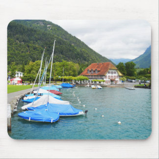 Neuhaus and Lake Thun Mouse Pad