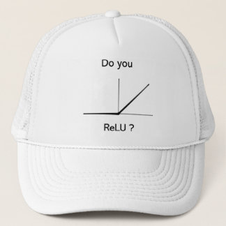 Neural network themed trucker hat