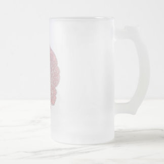 Neural Plasticity Frosted Glass Beer Mug