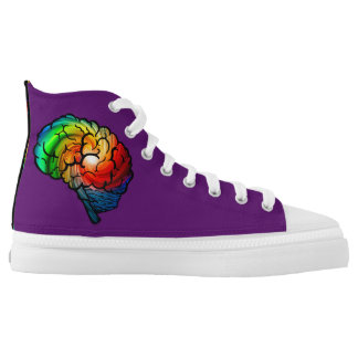 Neurodiversity Rainbow Brain Purple High-Tops