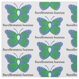 Neurofibromatosis Butterfly Awareness Ribbon Fabric