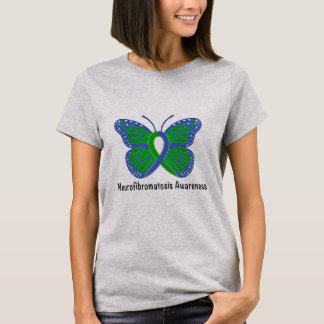 Neurofibromatosis Butterfly Awareness Ribbon T-Shirt