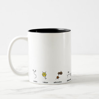 Neurotransmitter Parade Two-Tone Coffee Mug
