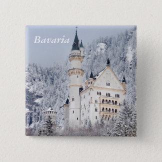 Neuschwanstein Castle 15 Cm Square Badge