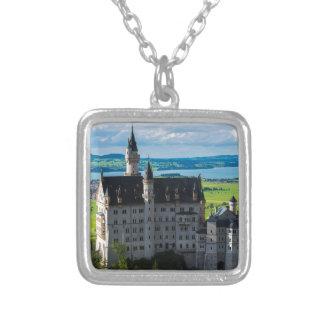 Neuschwanstein Castle - Bavaria - Germany Silver Plated Necklace