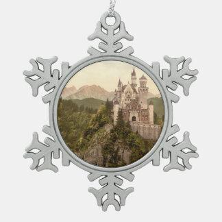 Neuschwanstein Castle, Bavaria, Germany Snowflake Pewter Christmas Ornament