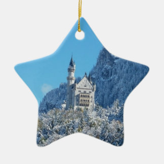 Neuschwanstein Castle, Bavarian Alps Ceramic Ornament