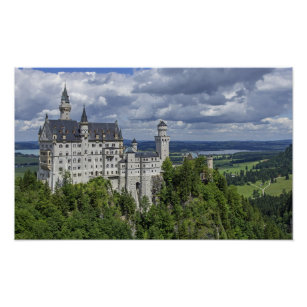 Neuschwanstein Castle - Germany Poster