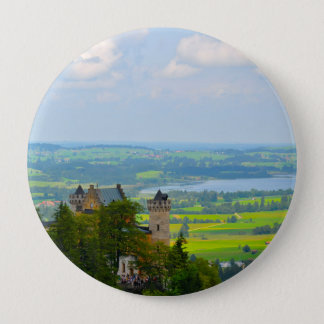 Neuschwanstein Castle in Bavaria Germany 10 Cm Round Badge