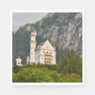 Neuschwanstein Castle in Bavaria Germany Paper Napkins