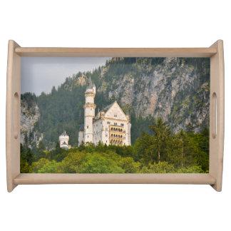 Neuschwanstein Castle in Bavaria Germany Serving Tray