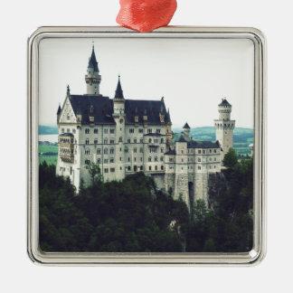 Neuschwanstein castle metal ornament