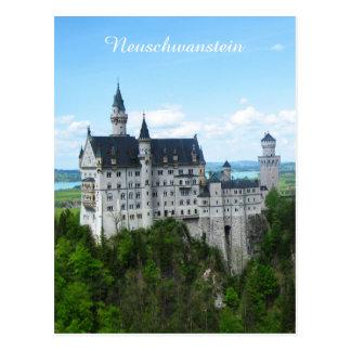 Neuschwanstein panorama postcard