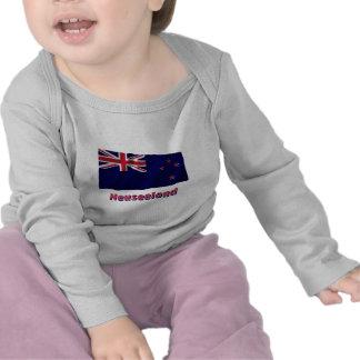 Neuseeland Fliegende Flagge mit Namen Shirt