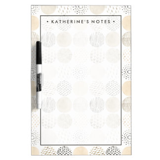 Neutral Abstract Circle Pattern Dry Erase Board