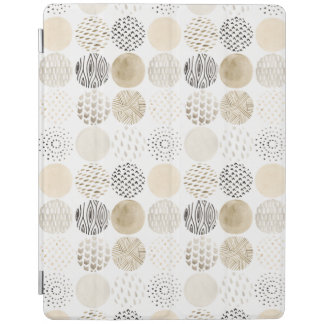 Neutral Abstract Circle Pattern iPad Cover