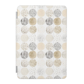 Neutral Abstract Circle Pattern iPad Mini Cover