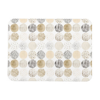 Neutral Abstract Circle Pattern Magnet