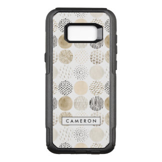 Neutral Abstract Circle Pattern OtterBox Commuter Samsung Galaxy S8+ Case