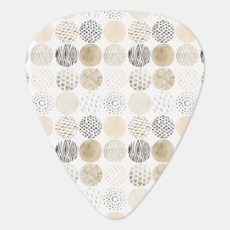 Neutral Abstract Circle Pattern Plectrum