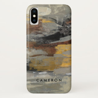 Neutral Abstract Gray Print | Silvia Vassileva iPhone X Case