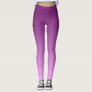 Neutral and Plain Gradient Pink Leggings