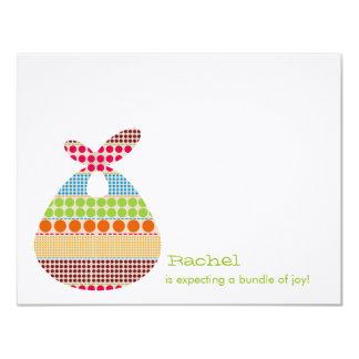 Neutral Baby Shower Boho Dots Bundle Card