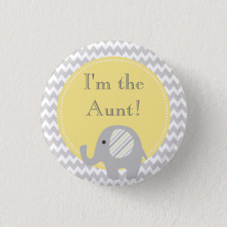 Neutral Baby Shower I'm the Aunt Family Button