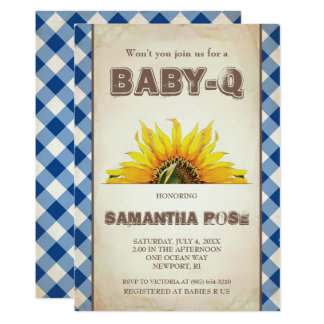 Neutral BabyQ Baby Shower, BBQ Baby Q Invites