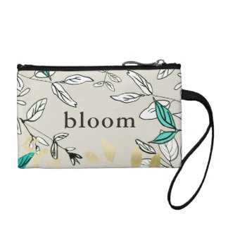 Neutral Botanical Bloom with Faux Gold Clutch
