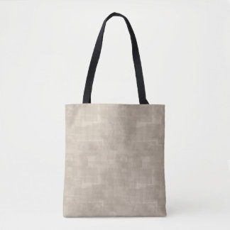 Neutral Brown Abstract Squares Pattern Tote Bag