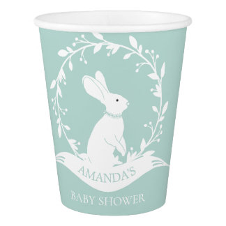 Neutral Bunny Baby Shower Paper Cup