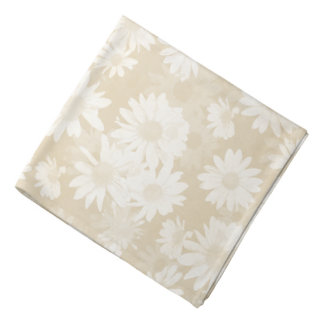 Neutral Daisies Bandana