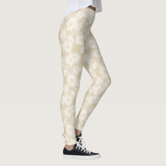 Neutral Daisies Leggings