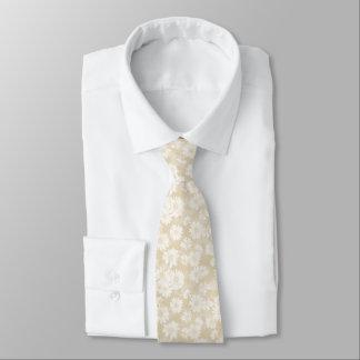 Neutral Daisies Tie